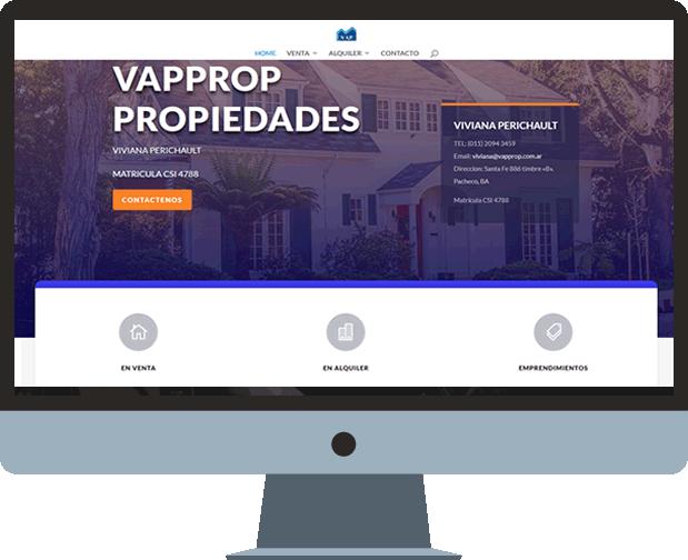 pagina wordpress para inmobiliaria vapprop